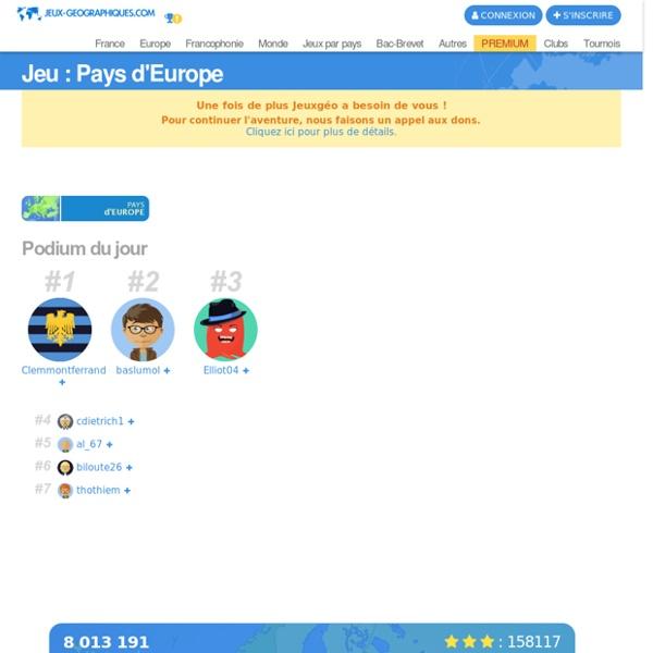 Pays d'Europe jeux gratuits
