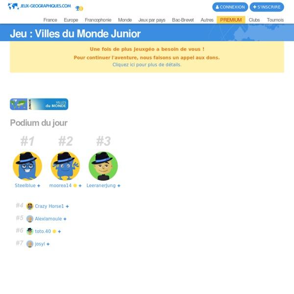Villes du Monde Junior jeux gratuits