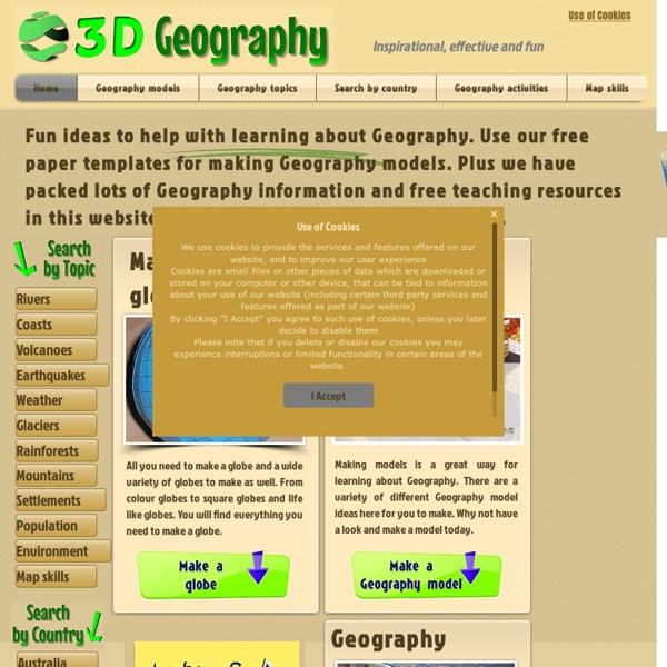 Fun ideas for geography models