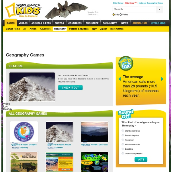 Play Geography Games and Learn About the World
