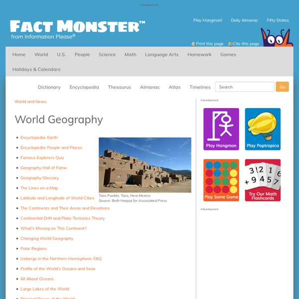 World Geography: Oceans, rivers, maps, volcanoes