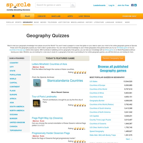 Geography Quizzes and Games