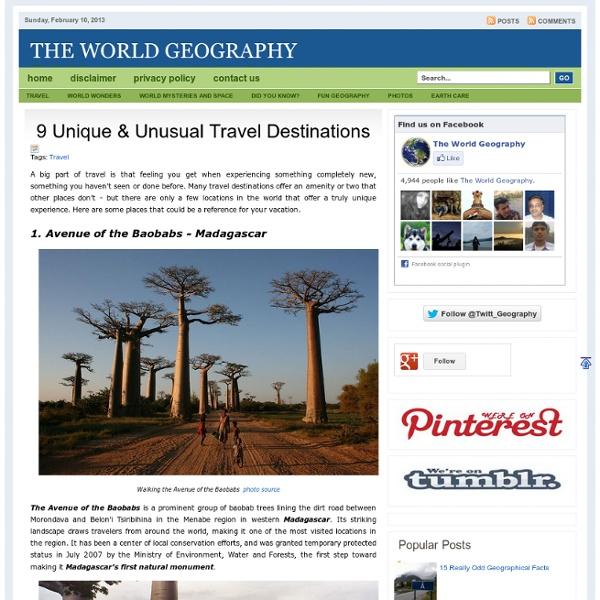 9 Unique & Unusual Travel Destinations