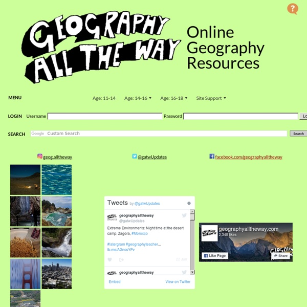 Geographyalltheway.com - Online Geography and Humanities Resources