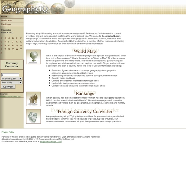 GeographyIQ - World Atlas - Home Page