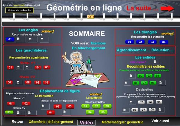 Géométrie en ligne