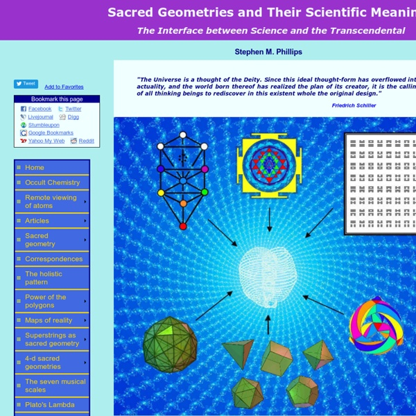 Sacred Geometries & Their Scientific Meaning