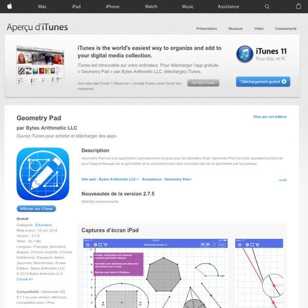 Geometry Pad dans l'App Store