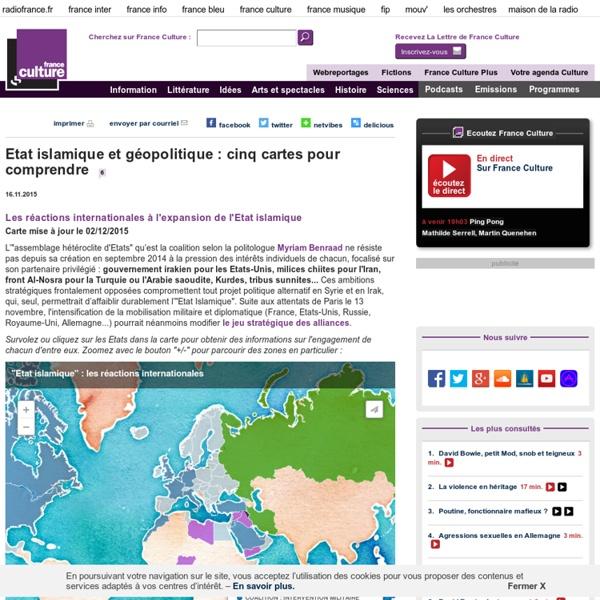 Etat islamique et géopolitique : cinq cartes pour comprendre