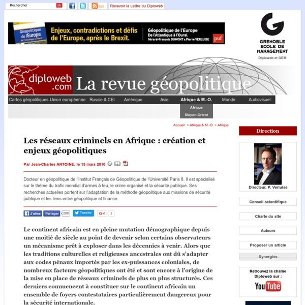Géopolitique des réseaux criminels en Afrique. J-C Antoine