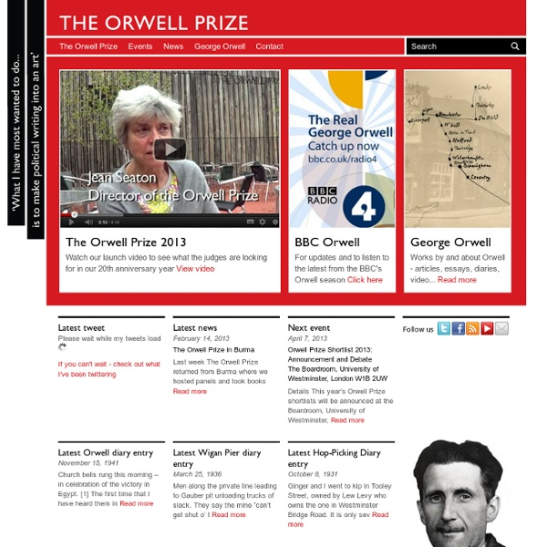 George Orwell - The Orwell Prize