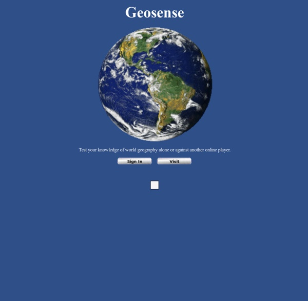 Geosense: an online world geography game