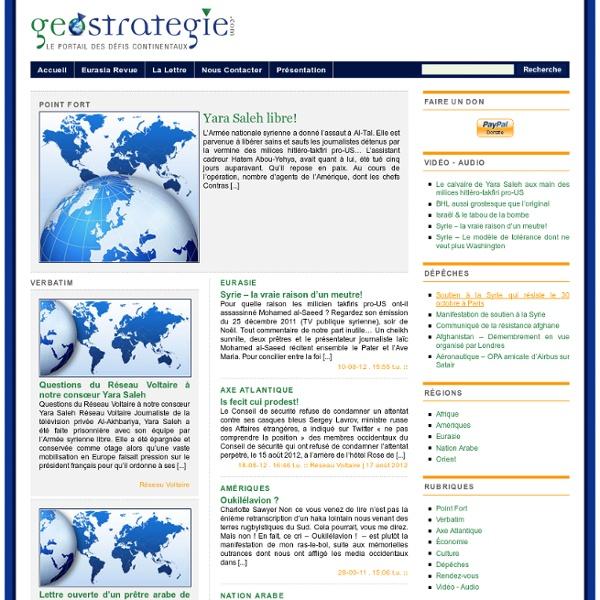 Geostrategie.com › le portail des défis continentaux