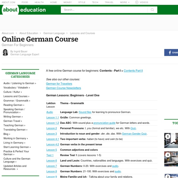 German For Beginners - A Free Online German Course