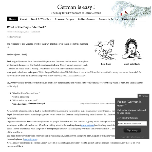 The blog for all who want to learn German…
