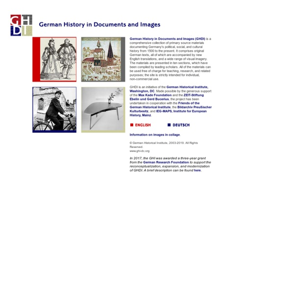 German History in Documents and Images