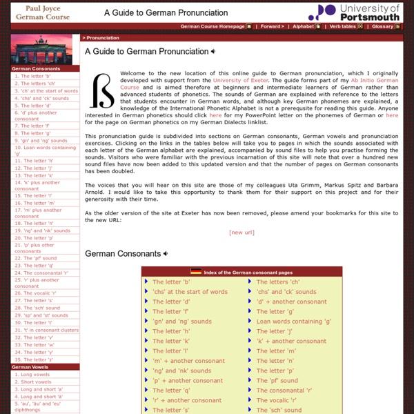 German Pronunciation Guide - Paul Joyce