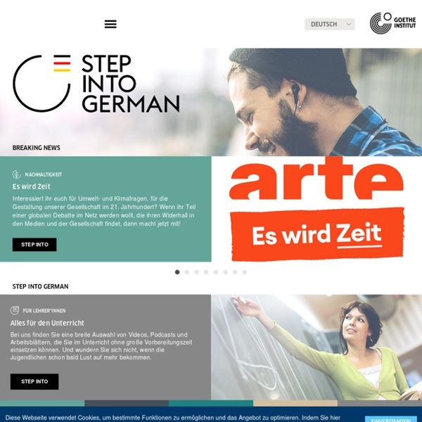 Step into German - Step into German – Learn more about German(y) through music, film and soccer - Goethe-Institut