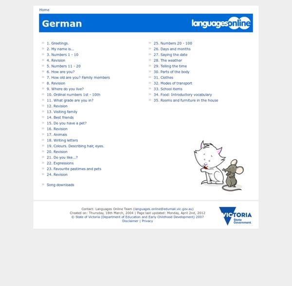 German topics