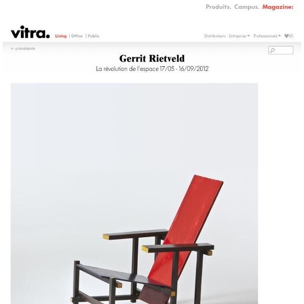 Gerrit Rietveld : La révolution de l'espace 17/05 - 16/09/2012