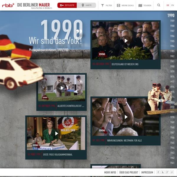 Geschichte der Berliner Mauer und des Mauerfalls in Videos und Bildern - rbb