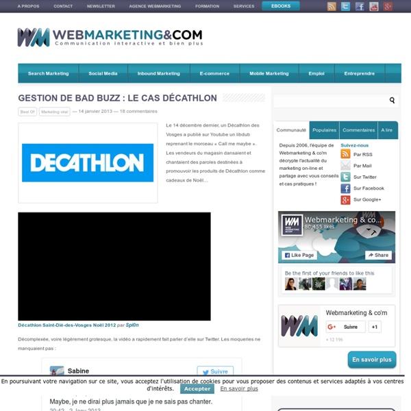 Gestion de bad buzz : le cas Décathlon