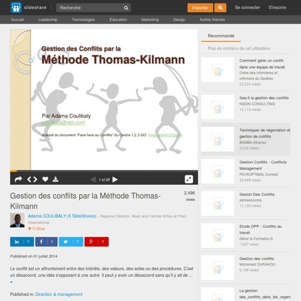 Gestion des conflits par la Méthode Thomas-Kilmann