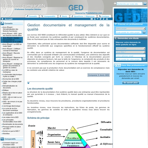 Gestion documentaire qualité - gestion documentaire ged