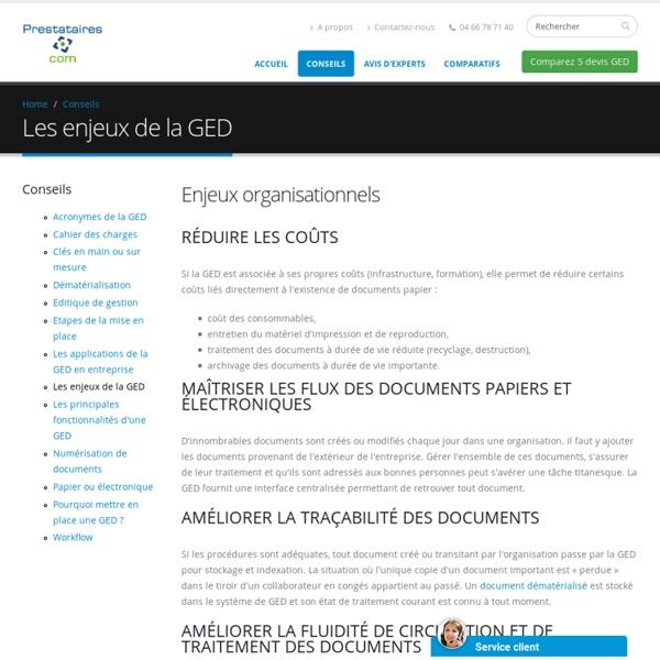 Enjeux ged - gestion électronique document
