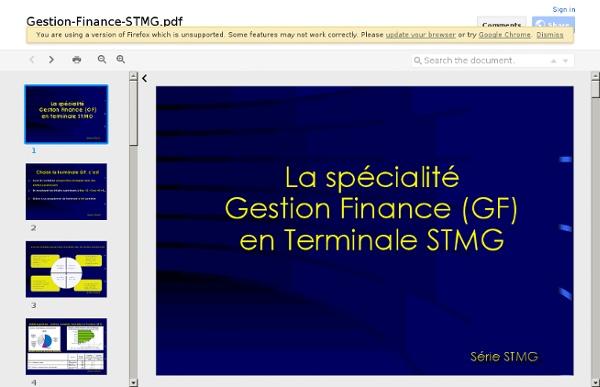 Gestion Finance en terminale STMG