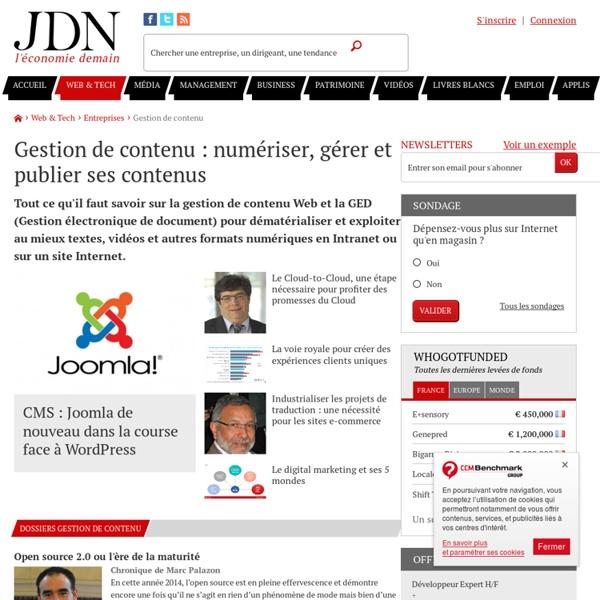 Gestion de contenu : solutions, bonnes pratiques, cas