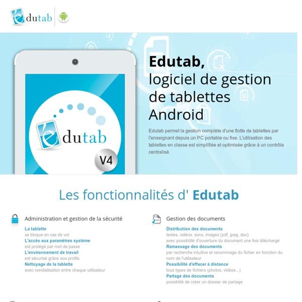 Edutab, Logiciel de gestion pour tablettes