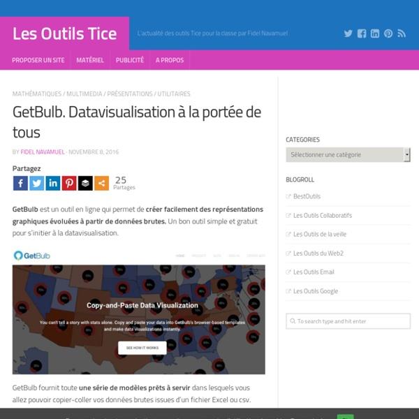 GetBulb. Datavisualisation à la portée de tous – Les Outils Tice