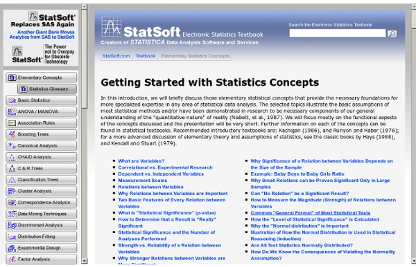Elementary Concepts in Statistics