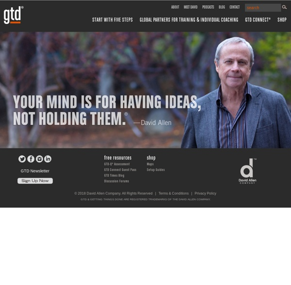 Getting Things Done®, GTD® and David Allen & CO
