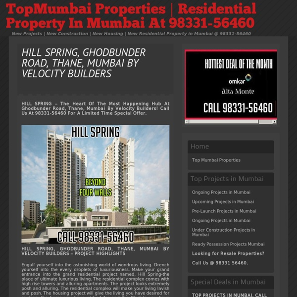 Hill Spring Project Brochure