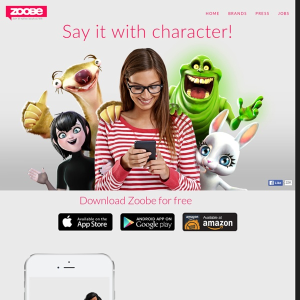 Character voice messaging. Free iOS & Android app with Ghostbusters, Paddington, The Smurfs, Street Fighter & Bunny.