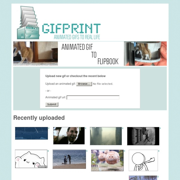 Gifprint - Convert Animated Gifs to Printable Flipbooks