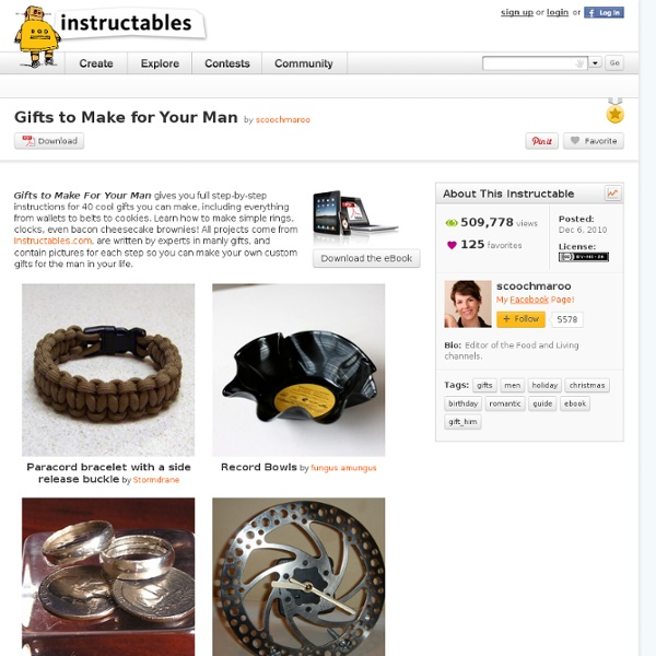 Gifts To Make For Your Man: Free PDF