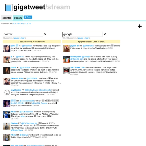 GigaTweet - Counting the number of twitter messages