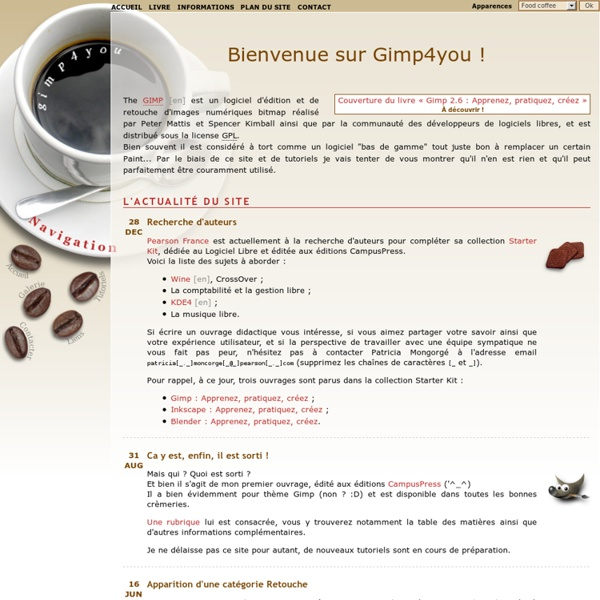 Gimp4you : des tutoriels pour Gimp