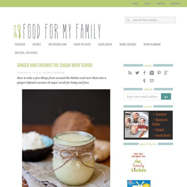 Ginger and Coconut Oil Sugar Body Scrub