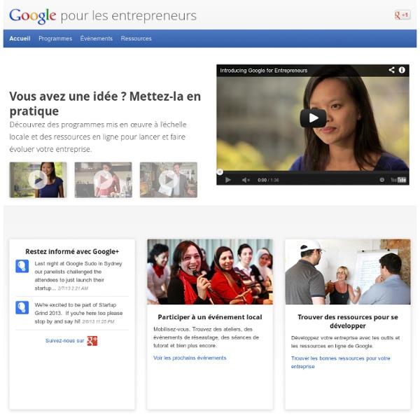 For Entrepreneurs – Google for Entrepreneurs