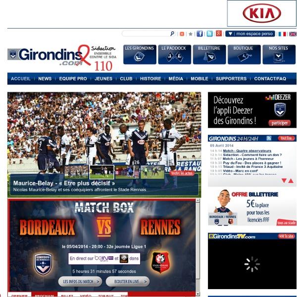 Le site officiel du FC Girondins de Bordeaux
