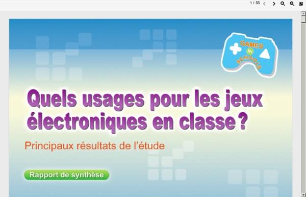 Quels usages pour les jeux électroniques en classe ?,