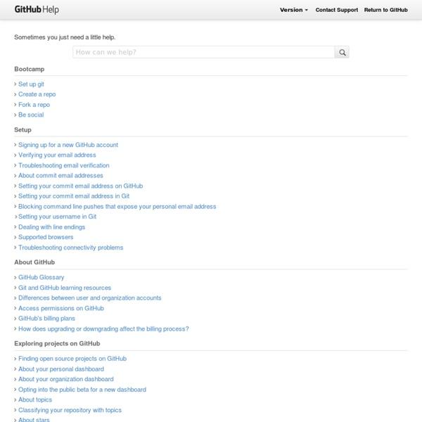 GitHub Help