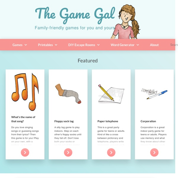 The Game Gal - Giving you lists of awesome, fun family games!