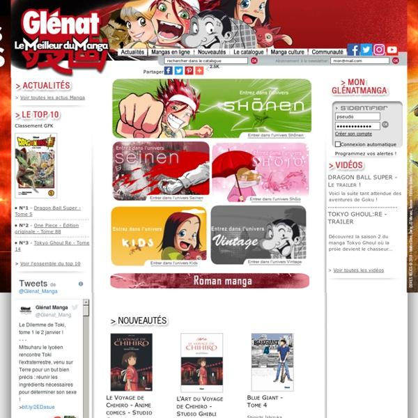 Manga Glénat : l'éditeur Glénat vous fait découvrir ses mangas