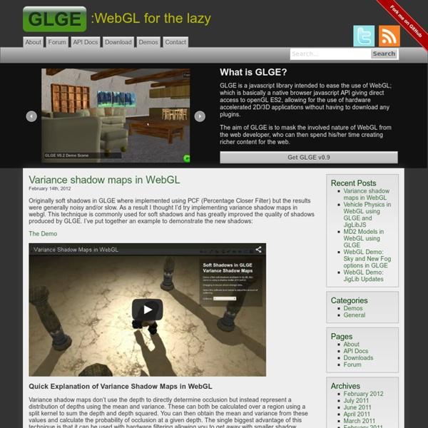 GLGE WebGL Library/Framework