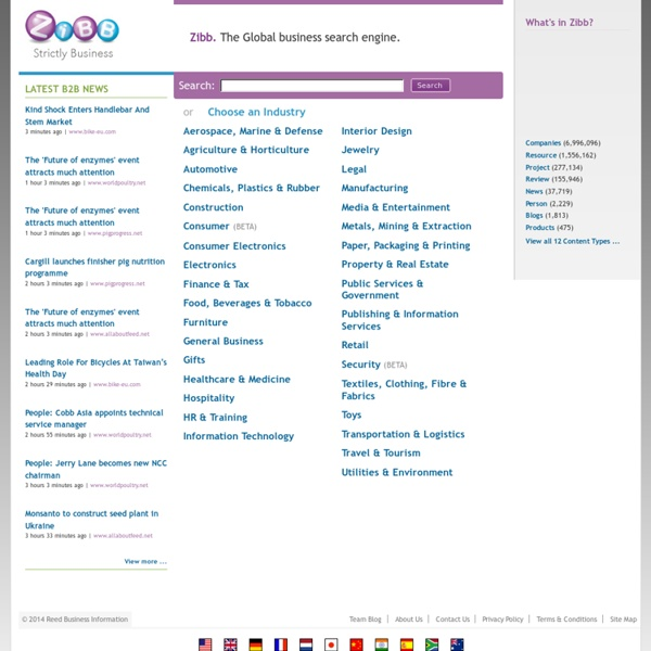 Zibb. The Global business search engine.